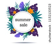 summer sale banner  tropical... | Shutterstock .eps vector #1152133523