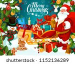 christmas holiday greeting card ... | Shutterstock .eps vector #1152136289