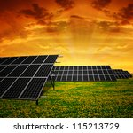 solar energy panels in the... | Shutterstock . vector #115213729