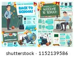 back to school posters with... | Shutterstock .eps vector #1152139586