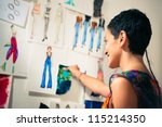 young people and small business ... | Shutterstock . vector #115214350