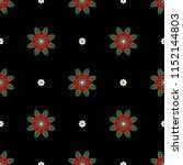 seamless geometrical floral... | Shutterstock .eps vector #1152144803