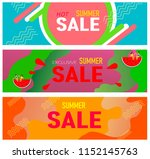 banners for summer sales. a set ... | Shutterstock .eps vector #1152145763