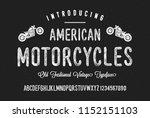 original handmade alphabet.... | Shutterstock .eps vector #1152151103