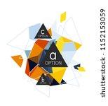 geometric triangle infographics ... | Shutterstock .eps vector #1152153059