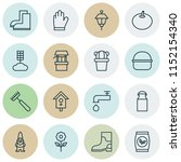 farm icons set with waterproof... | Shutterstock . vector #1152154340