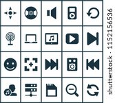 media icons set with laptop ... | Shutterstock .eps vector #1152156536