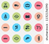 car icons set with vehicle wash ... | Shutterstock .eps vector #1152156590