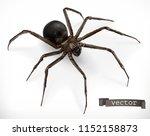 realistic spider. halloween 3d... | Shutterstock .eps vector #1152158873