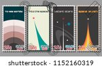 vector set of abstract space...   Shutterstock .eps vector #1152160319