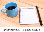 new year resolutions list on... | Shutterstock . vector #1152163376
