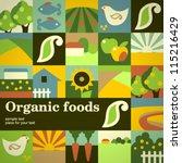 Organic Food Concept Vector...