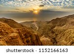 sunrise over the dead sea and... | Shutterstock . vector #1152166163