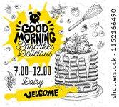 good morning pancakes delicious ... | Shutterstock .eps vector #1152166490