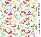 seamless pattern  cartoon... | Shutterstock .eps vector #1152173363
