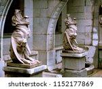 Sculptures Of Gargoyles Made O...