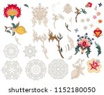 set of stylized flowers and... | Shutterstock .eps vector #1152180050