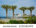 seashore mosque in jeddah ... | Shutterstock . vector #1152181493