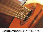 guitar neck and strings  close... | Shutterstock . vector #1152183776