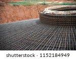 detail rebar foundation... | Shutterstock . vector #1152184949