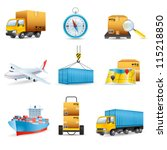 logistics icons | Shutterstock .eps vector #115218850