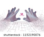 concept of virtual reality... | Shutterstock .eps vector #1152190076