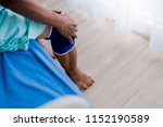 old asian senior man complains... | Shutterstock . vector #1152190589