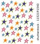 very star pattern | Shutterstock .eps vector #1152191540