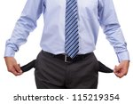Empty pockets concept for poverty, bankruptcy and debt - stock photo