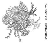flowers bouquet. floral...   Shutterstock . vector #1152208793