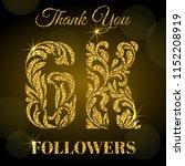 6k followers. thank you banner. ...   Shutterstock .eps vector #1152208919