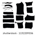 torn fabric fragment silhouettes | Shutterstock .eps vector #1152209336