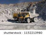 heavy quarry dump truck and a...   Shutterstock . vector #1152213980