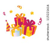 gifts | Shutterstock .eps vector #115221616