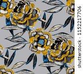 watercolor seamless pattern... | Shutterstock . vector #1152217706