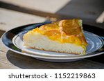 delicious cake with apricot jam ...   Shutterstock . vector #1152219863