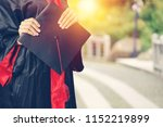 graduates of the university of... | Shutterstock . vector #1152219899
