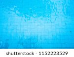 blue water in swimming pool... | Shutterstock . vector #1152223529