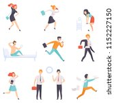 people running to work ... | Shutterstock .eps vector #1152227150
