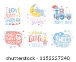cute hand drawn decor elements... | Shutterstock .eps vector #1152227240
