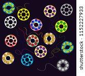 multicolored bobbins for yarn... | Shutterstock .eps vector #1152227933