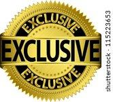 golden exclusive label  vector... | Shutterstock .eps vector #115223653