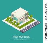 urban architecture public... | Shutterstock .eps vector #1152237146