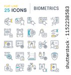 set of vector line icons of... | Shutterstock .eps vector #1152238583