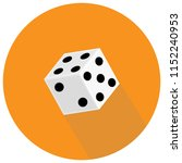 dice flat icon. game dices.... | Shutterstock .eps vector #1152240953