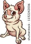 anxious cartoon chihuahua... | Shutterstock .eps vector #1152242036