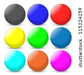 color balls set | Shutterstock . vector #115224259
