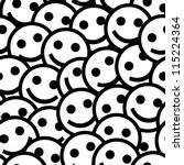 smiling emoticons. seamless... | Shutterstock .eps vector #115224364