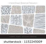 floral vector textures.... | Shutterstock .eps vector #1152245009