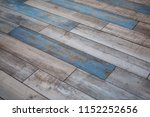 old parquet board with blue | Shutterstock . vector #1152252656
